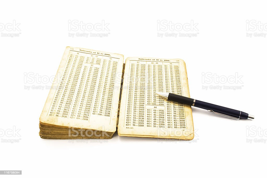Open old book with pen royalty-free stock photo
