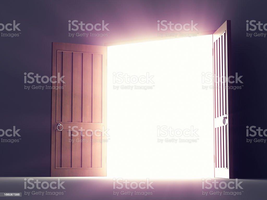 Open Old Doors royalty-free stock photo