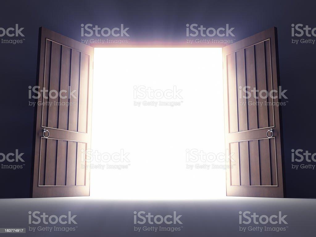 Open Old Doors stock photo