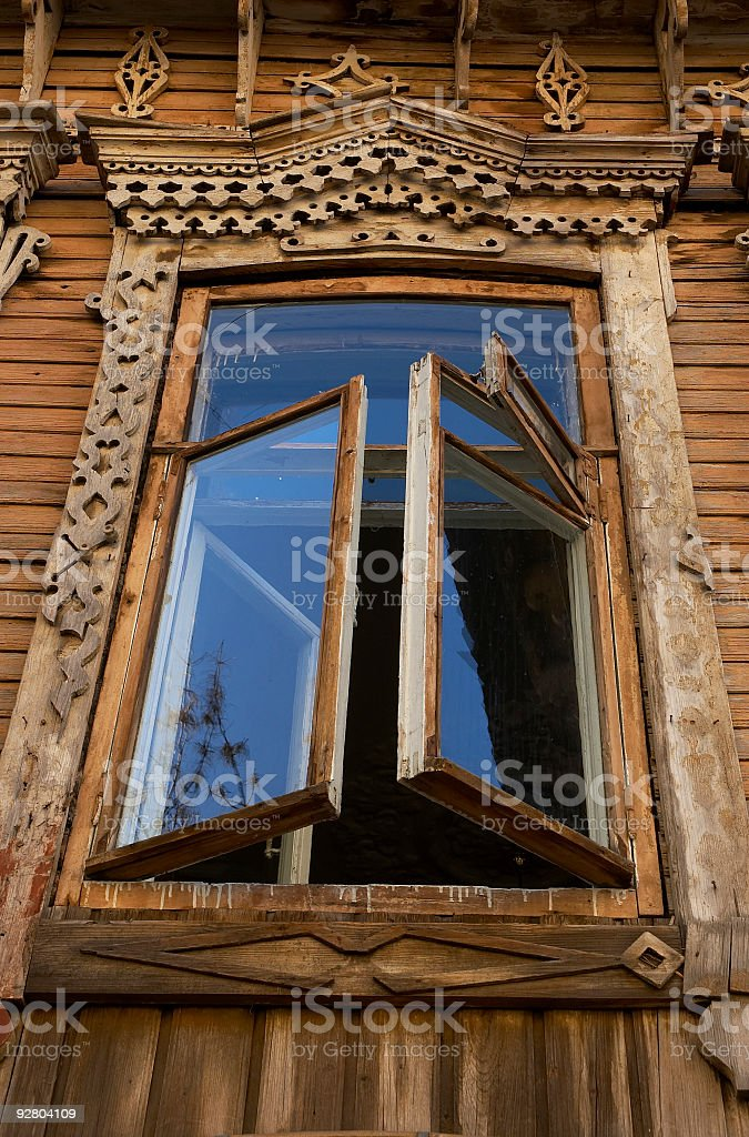 open old window royalty-free stock photo