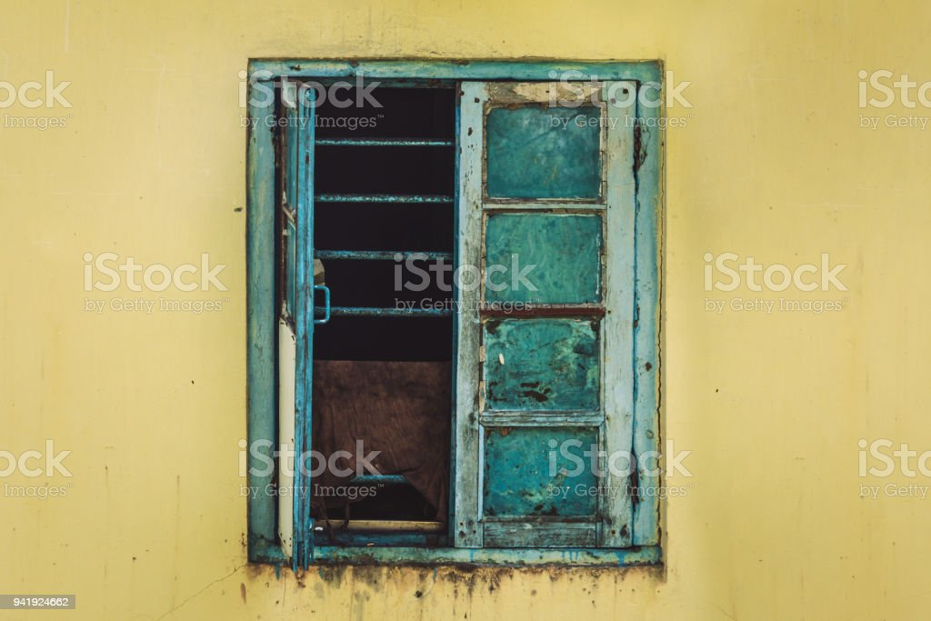 Open Old Window stock photo