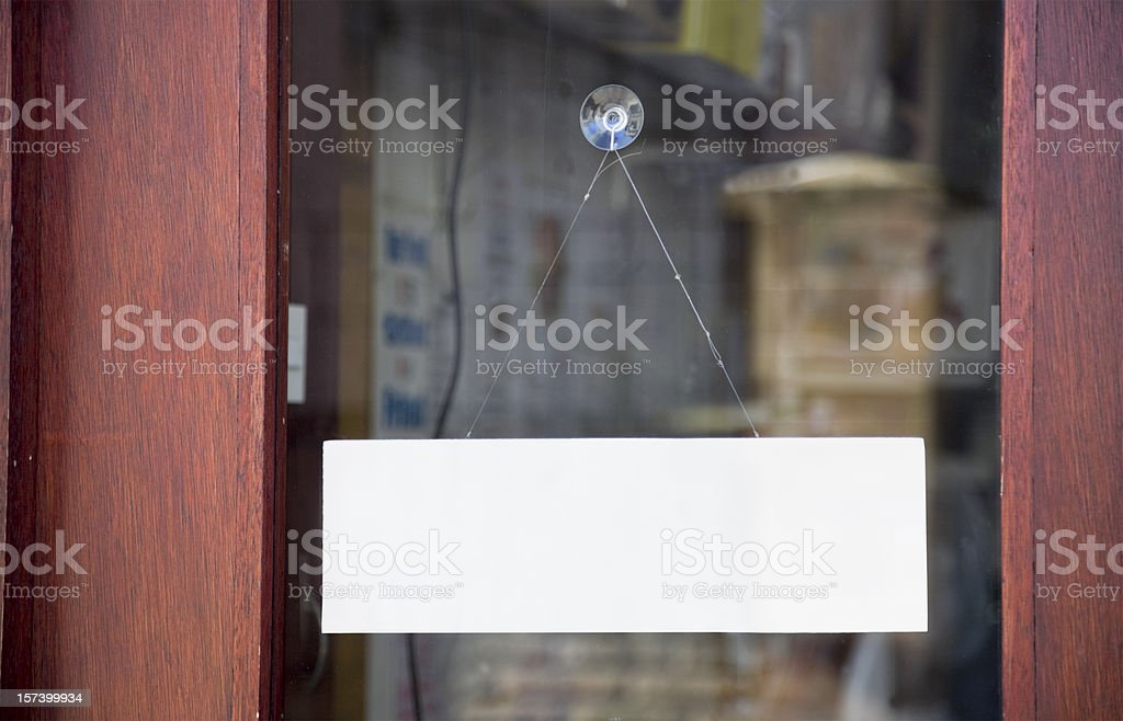 Open or Closed?-Click for more blank signs and notices stock photo