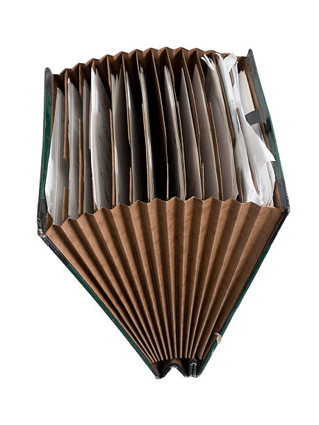open organizer - accordion stock photos and pictures