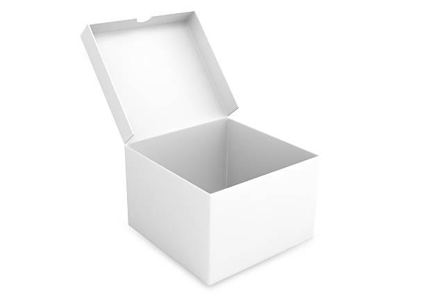 open packing box stock photo