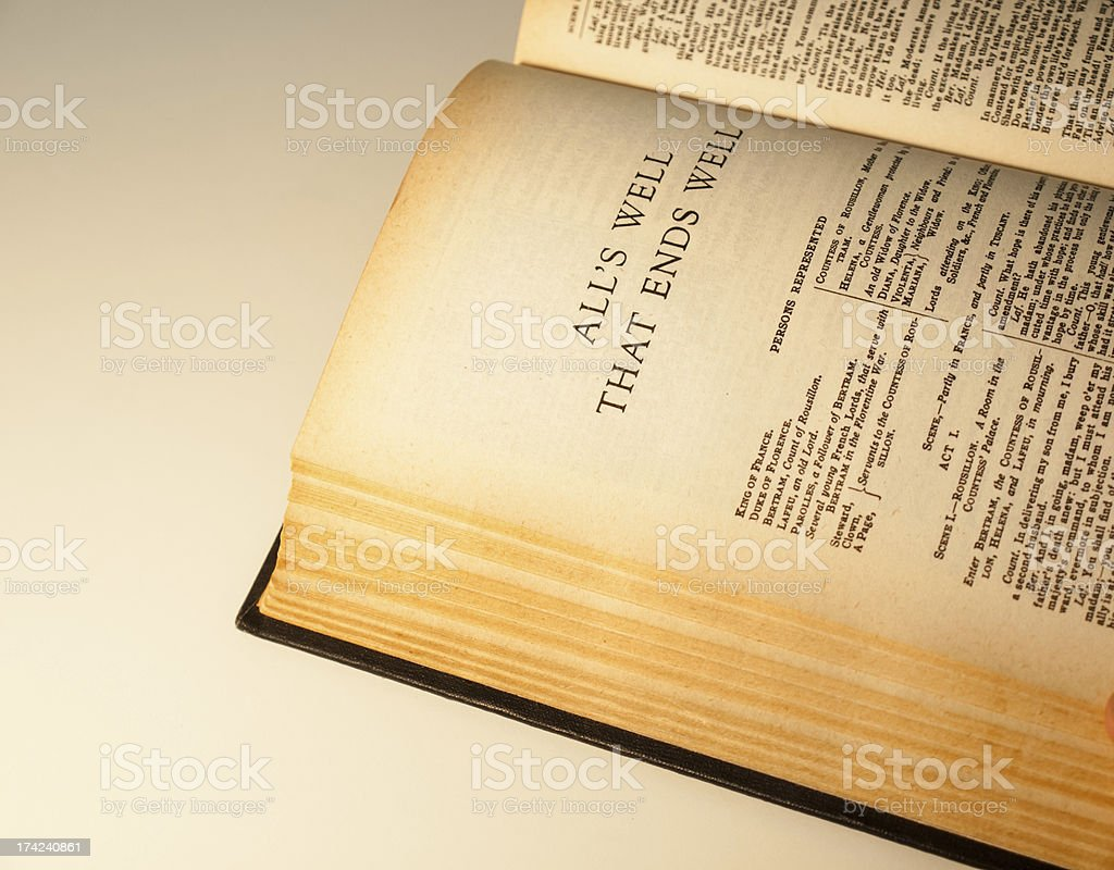 open page the complete works of shakespeare royalty-free stock photo