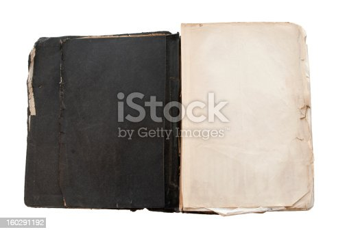 121305595 istock photo open pages from a grungy old black bible isolated white 160291192