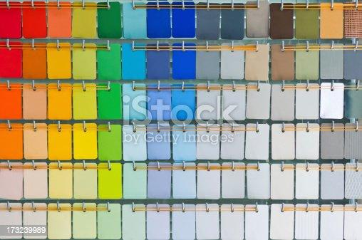 istock Open pantone color guide 173239989