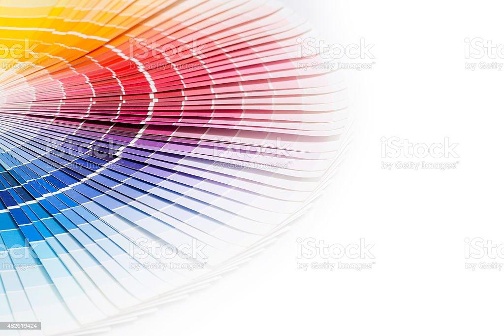 Offene Pantone Beispiel Farben Katalog. Lizenzfreies stock-foto