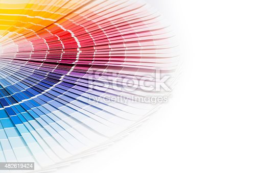 istock Open Pantone sample colors catalogue. 482619424