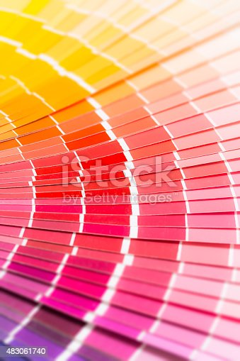 istock Open Pantone sample colors catalogue. 483061740