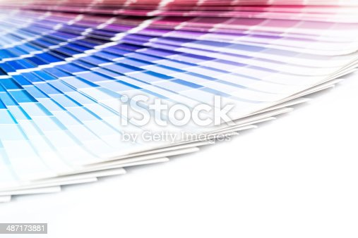 istock Open Pantone sample colors catalogue. 487173881