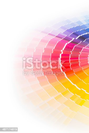istock Open Pantone sample colors catalogue. 487174619