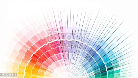 istock Open Pantone sample colors catalogue. 503006843