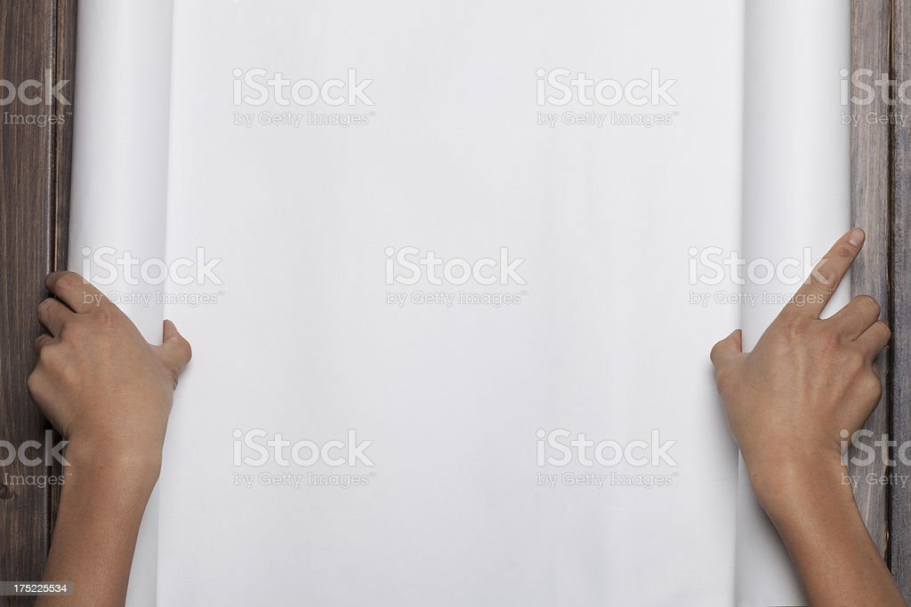 open paper royalty-free stock photo