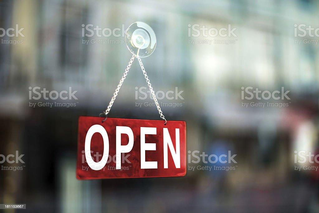 Geöffnet - Lizenzfrei Farbbild Stock-Foto