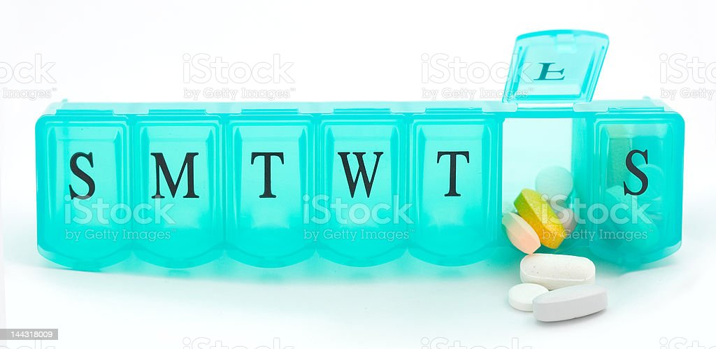 Open Pill Case stock photo