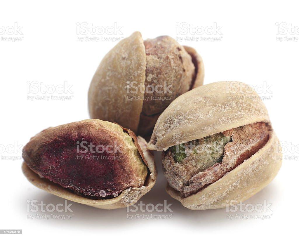 Open pistachio nut royalty-free stock photo