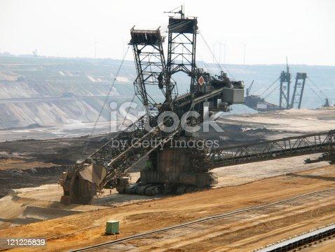 istock Open pit, brown coal mine 121225839