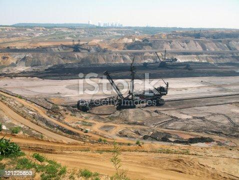 istock Open pit, brown coal mine 121225853