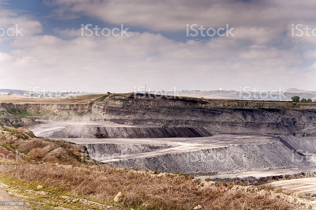 Open Pit Coal Mine stock photo