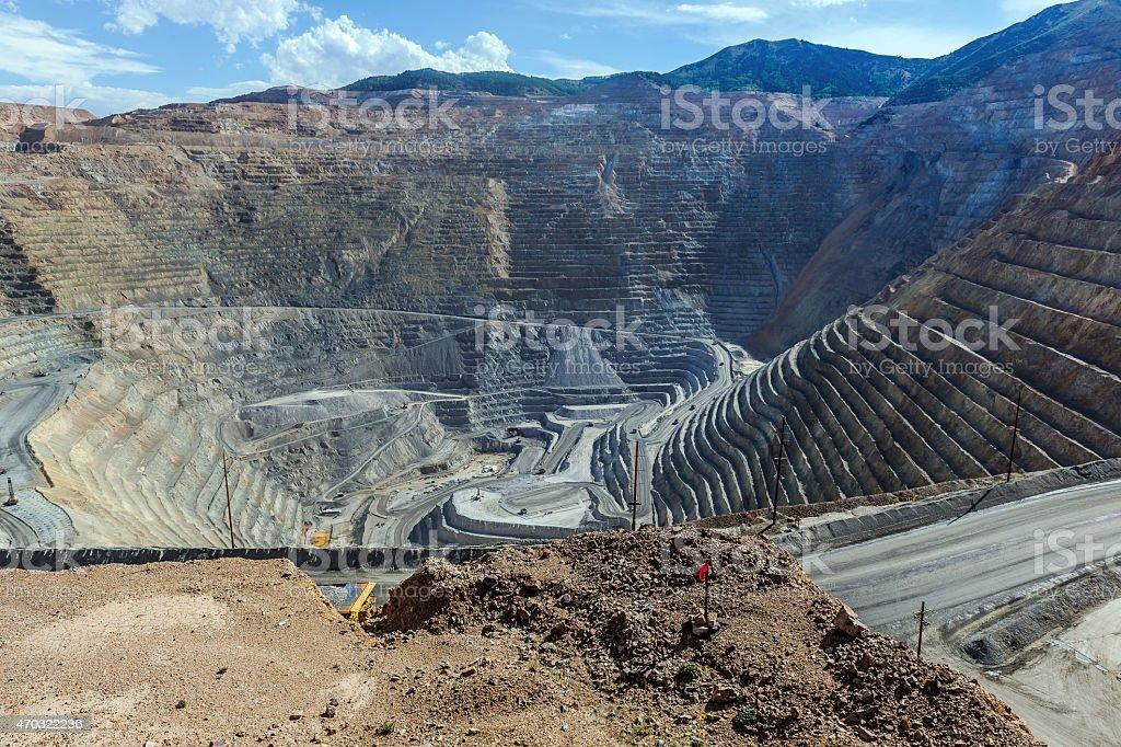 Open Pit Copper Mine in Utah, USA stock photo