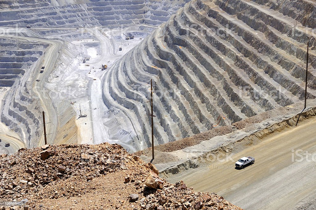 Open Pit Copper Mine royalty-free stock photo