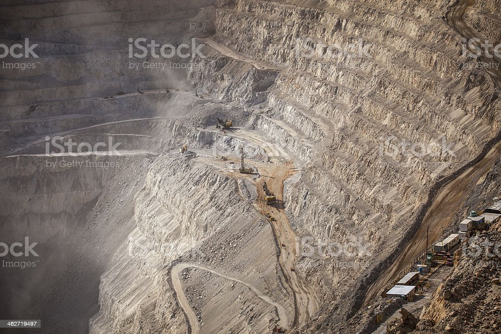 Open Pit Copper Mine stock photo