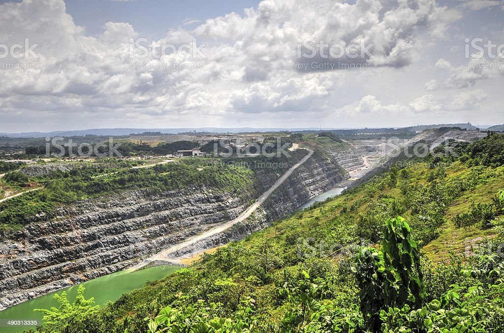 Open Pit Gold Mine, Africa stock photo