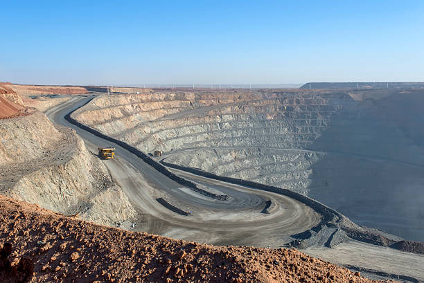 open pit mine 02 stock photo
