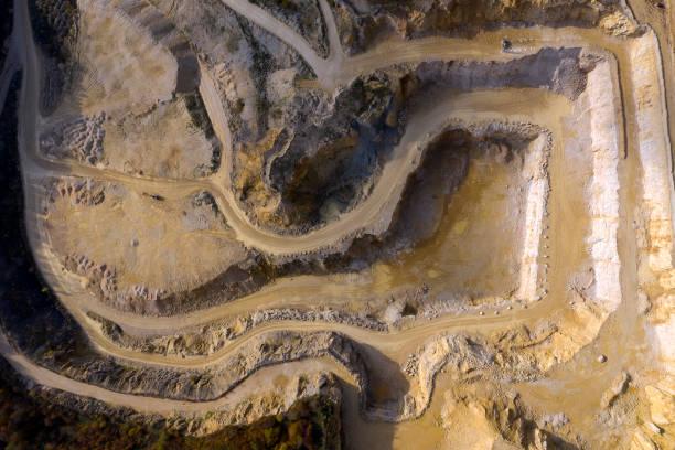 tagebau, luftaufnahme - aerial view soil germany stock-fotos und bilder