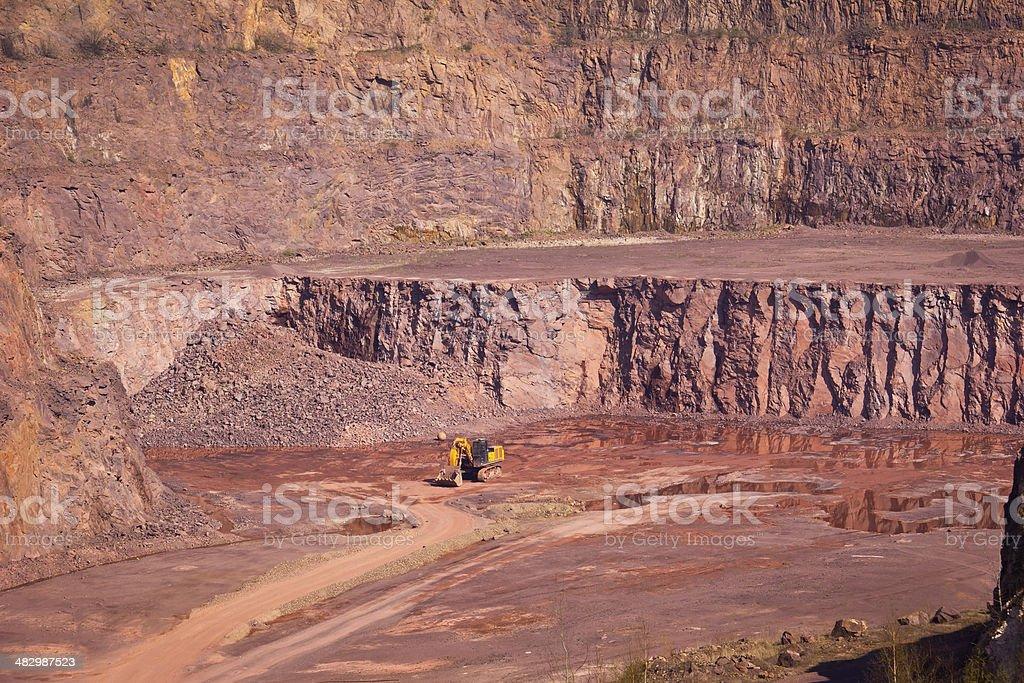 Open Pit Mine for Porphyry stock photo