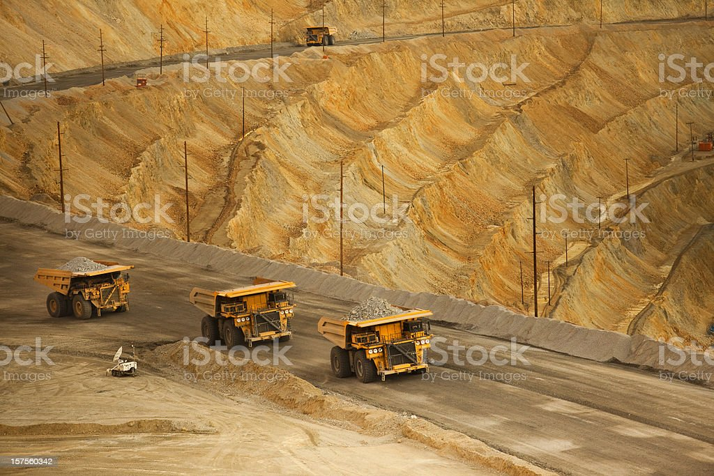 Open pit mine in the USA stock photo