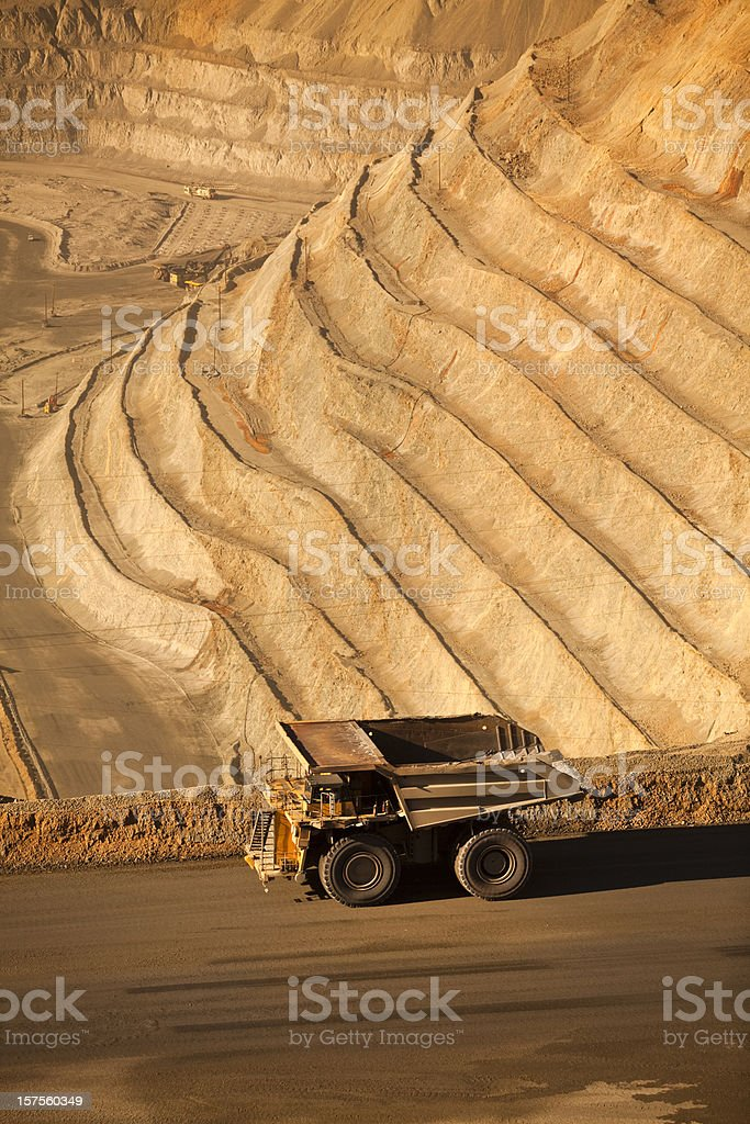 Open pit mine in the USA royalty-free stock photo