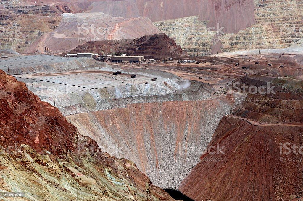 Open Pit Mine, Morenci, Arizona 1 - foto de stock