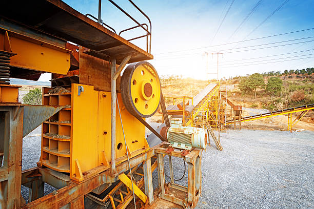 Offene Feuerstelle Bergbau und Fleischverarbeitungsbetrieb für zerstoßenen stone – Foto