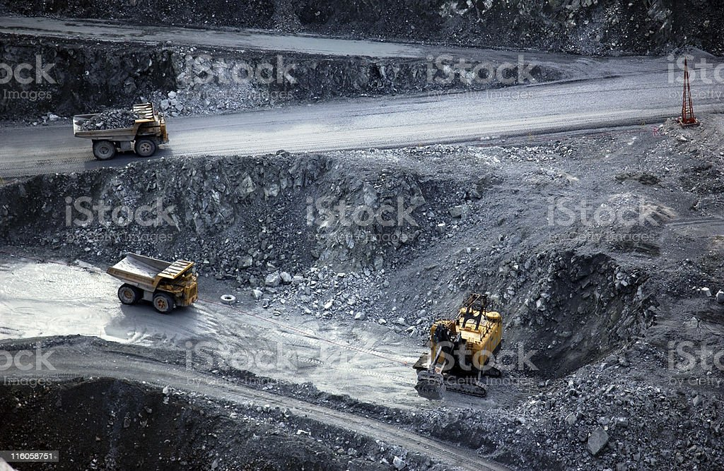 Open pit mining royalty-free stock photo