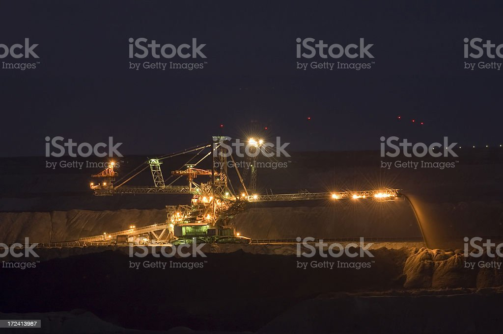 Open pit mining stock photo