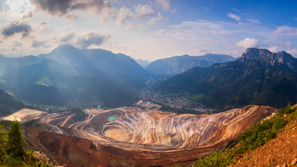 Open Pit Panorama Erzberg, Styria - Aerial view – Foto