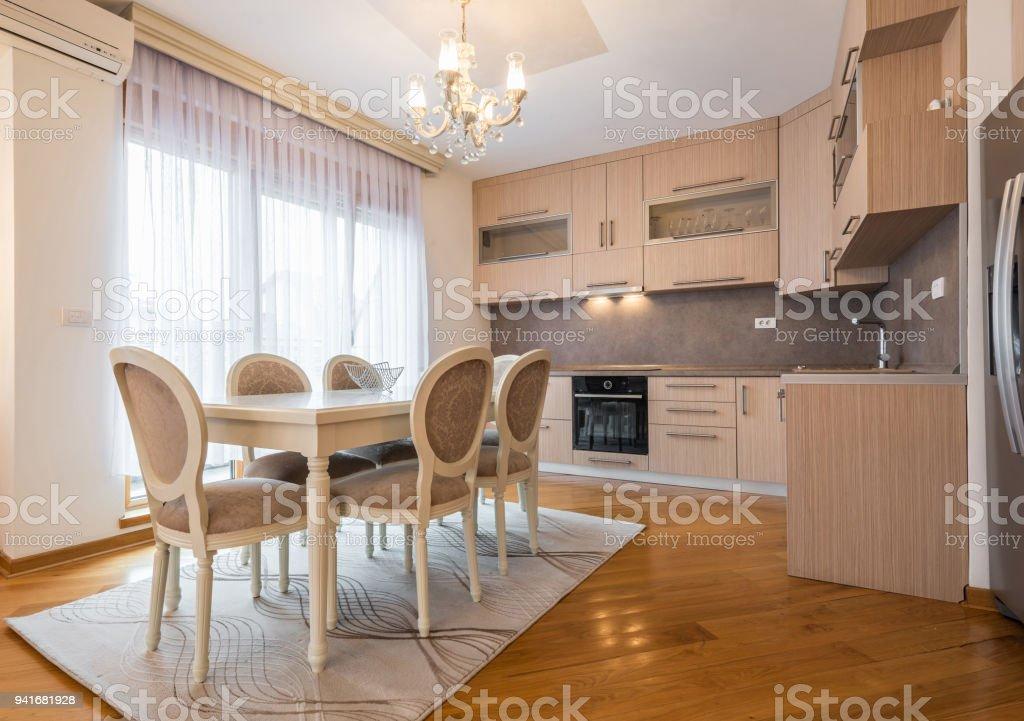 Offenen Innenraum Kuche Und Esszimmer Wohnflache Stockfoto Und Mehr Bilder Von Arbeitsplatte Istock