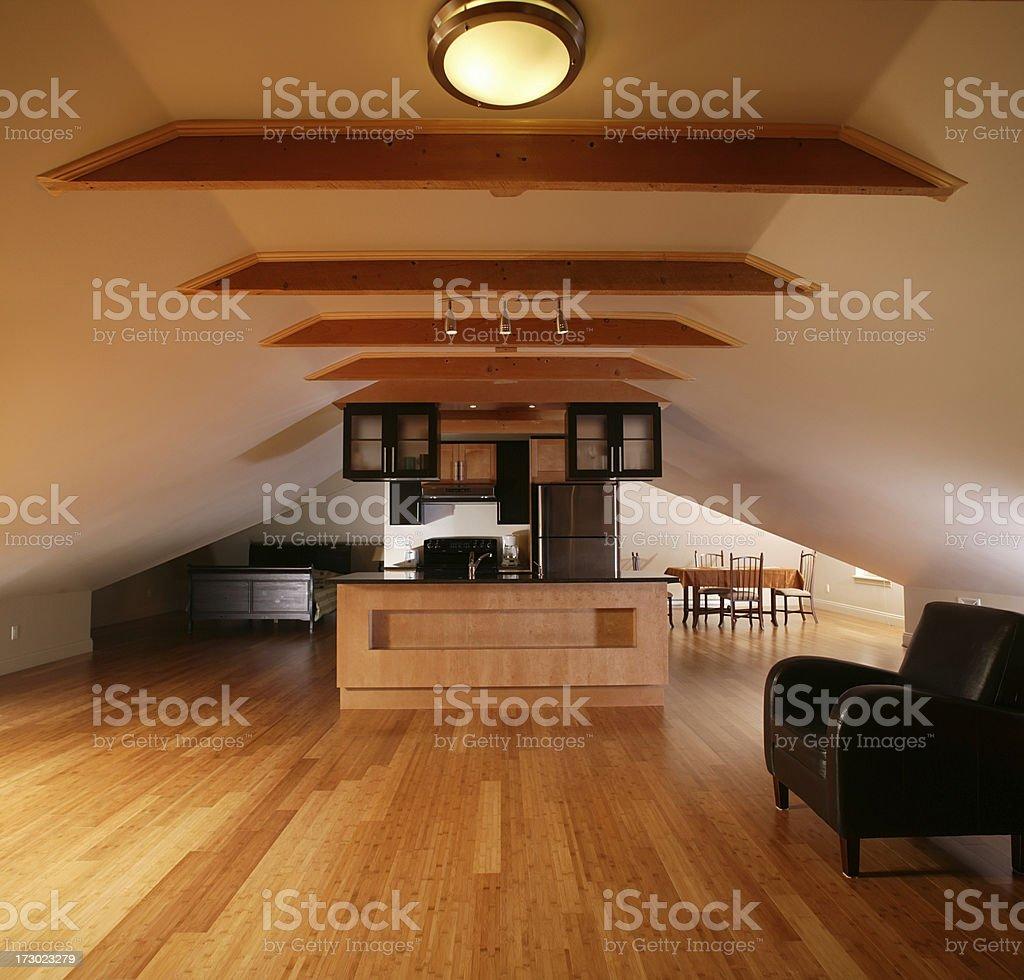 open plan apartment royalty-free stock photo