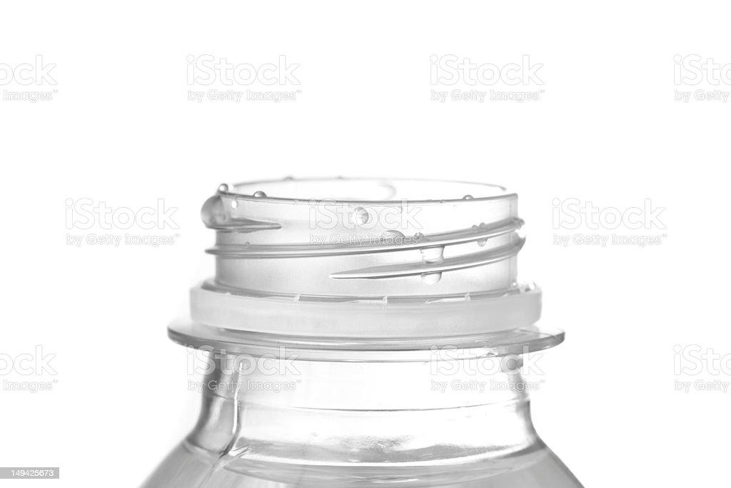 Open Plastic Bottle stock photo