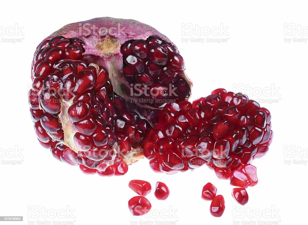 Open pomegranate royalty-free stock photo