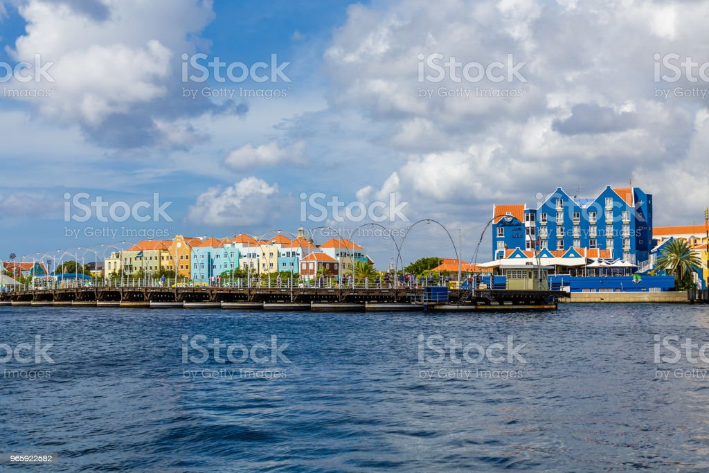 Open Pontoon Bridge in Curacao - Royalty-free Antilles Stock Photo