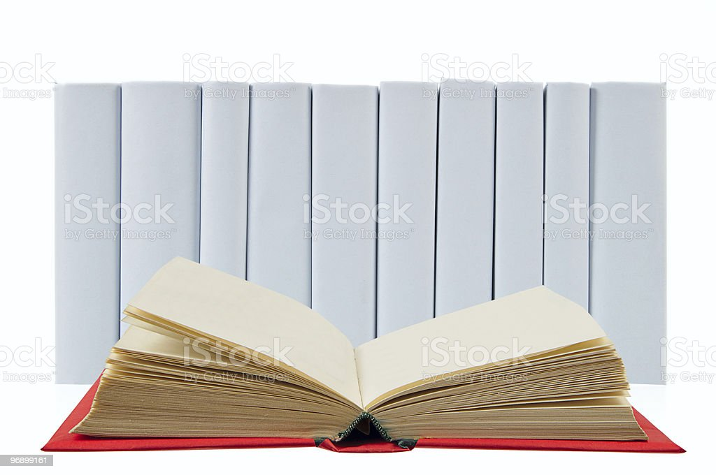 Open red book royalty-free stock photo