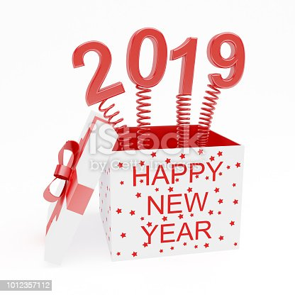 istock Open red gift box 2019 1012357112
