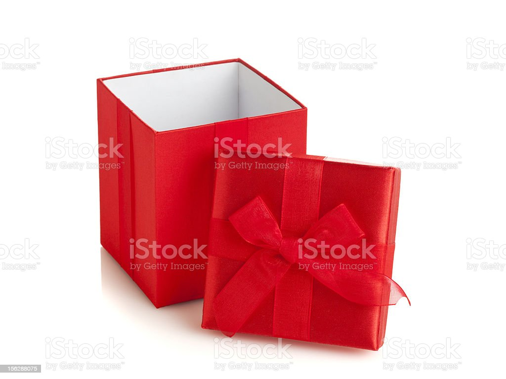 Open red giftbox royalty-free stock photo