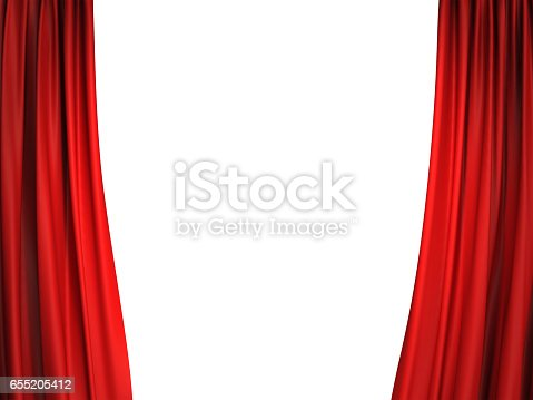 istock Open red stage curtains 655205412