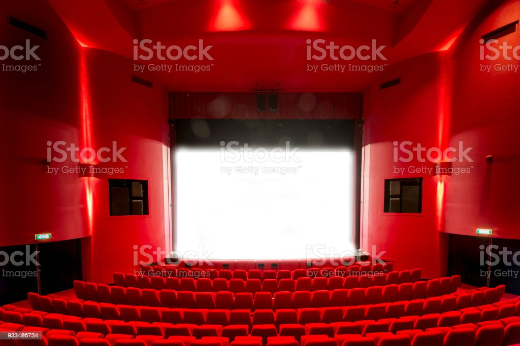 Open Red Theatre Stage Curtains Foto De Stock Royalty Free