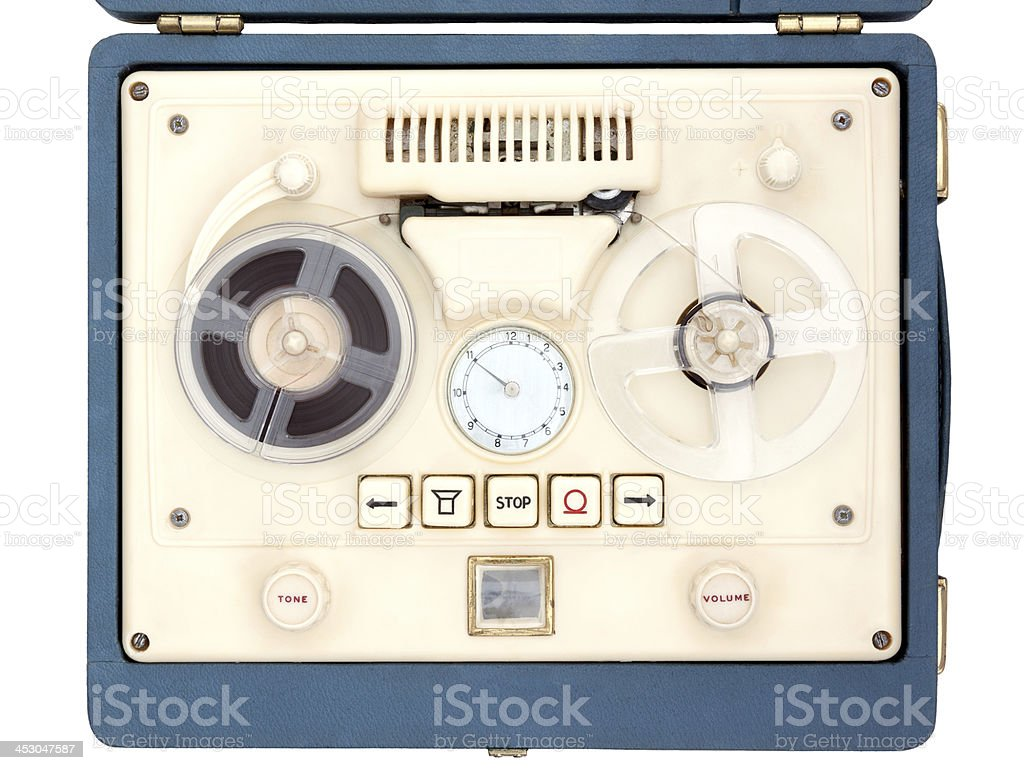 Open Reel Tape Recorder royalty-free stock photo