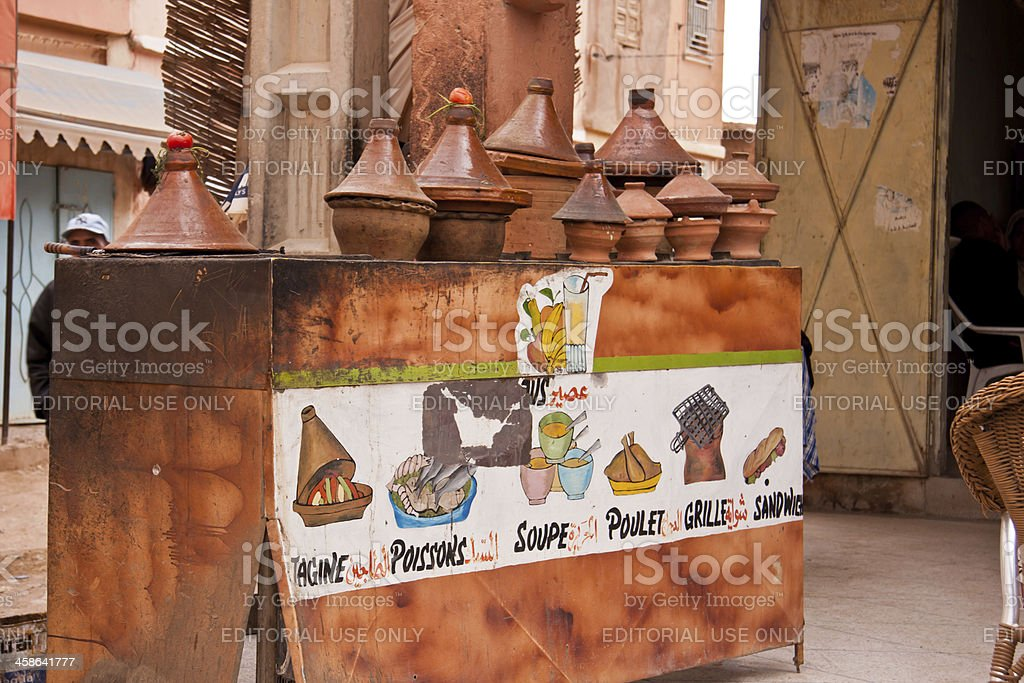open restaurant in Morocco royalty-free stock photo